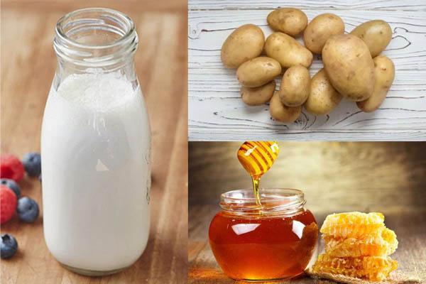 Mặt nạ khoai tây sữa tươi mật ong